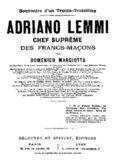 Adriano Lemmi chef suprême des francs-maçons