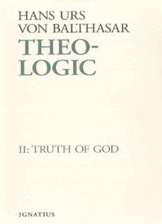Theo-Logic, vol. 2: Truth of God