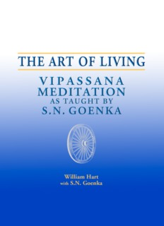 The ART of Living - Vipassana Meditation - Saraniya Dhamma