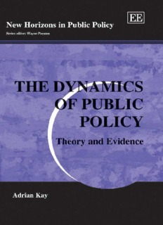 PUBLIC POLICY The dynamics of public policy theory and evidence.pdf