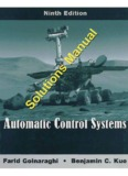 Automatic Control Systems, 9th Edition - Solutions Manual
