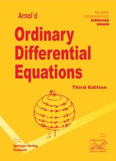 Arnold, V.I.; Ordinary Differential Equations, 3rd ed. Springer-Verlag, 1991.