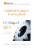 Fishbowl Inventory TTTrainingTrainingraining GuideGuideGuide