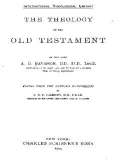 A.B. Davidson [1831-1902], The Theology of the Old Testament. Edinburgh