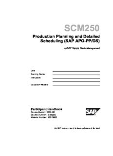SAP SCM250 - Production Planning and Detailed Scheduling (SAP APO-PP/DS)
