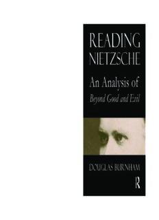 Reading Nietzsche : an analysis of Beyond good and evil