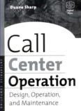 Call Center Operation: Design, Operation and Maintenance