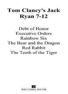 Tom Clancy's Jack Ryan, Books 7-12