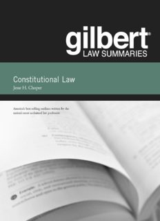 Gilbert Law Summaries on Constitutional Law,