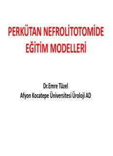 perkütan nefrolitotomi pnl