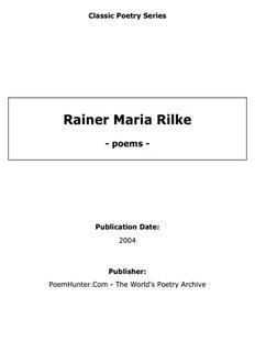 Rainer Maria Rilke - poems - - The Conscious Living Foundation