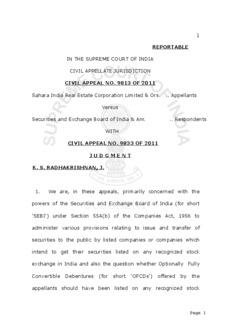 C.A. No. 9813/2011 and C.A. No. 9833/2011, Sahara India Real Estate Vs SEBI