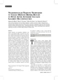NEUROMUSCULAR TRAINING TECHNIQUES TO ARGET DEFICITS BEFORE