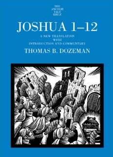 Joshua 1-12 (The Anchor Yale Bible Commentaries)