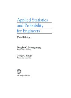Applied Statistics and Probability for Engineers. Student Solutions Manual