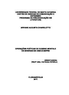 Operações poéticas de Eugenio Montale