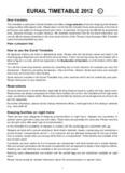 EURAIL TIMETABLE 2012 - Daum