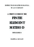 A first course in the finite element method. 5ed. - Instructor's solutions manual