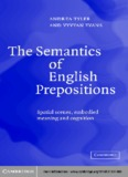 The Semantics of English Prepositions - Wikispaces