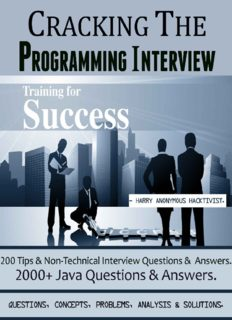 Cracking The Programming Interview: 2000+ Java Que. & Ans. || 500+ Tips & Non-Technical Interview Questions & Answers.