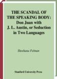 THE SCANDAL OF THE SPEAKING BODY: Don - barbara lazara
