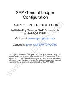SAP General Ledger Configuration - SAP FICO Training, SAP MM/WM