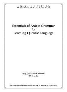 Essentials of Arabic Grammar Essentials of Arabic Grammar