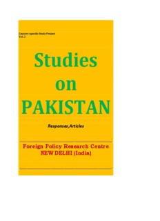 Studies on Pakistan