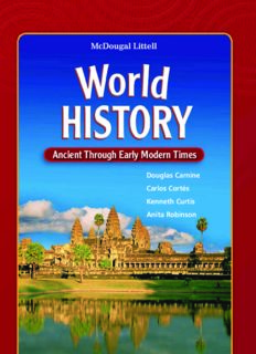 World History, Grades 6-8 Ancient Through Early Modern Times: Mcdougal Littell Middle School World History