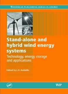 Stand-alone and Hybrid Wind Energy Systems: Technology, Energy Storage and Applications (Woodhead Publishing Series in Energy)