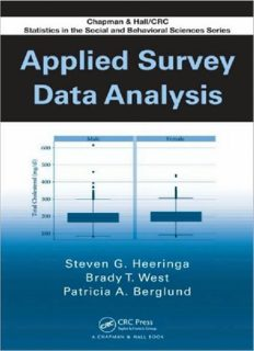 Applied Survey Data Analysis (Chapman & Hall CRC Statistics in the Social and Behavioral Scie)