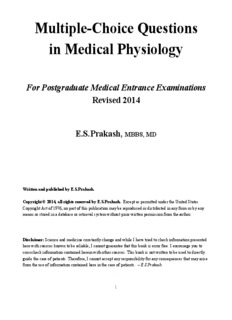 MCQs in Medical Physiology