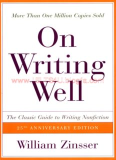 On Writing Well, The Classic Guide to Writing Nonfiction, 6e