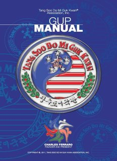 Tang Soo Do Mi Guk Kwan Gup Manual - The Karate School