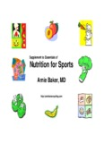 Supplement To Essentials Of Nutrition For Sports - Arnie Baker Cycling