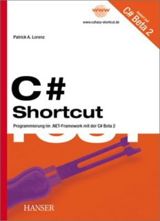 C Sharp Shortcut - Programmieren im .NET-Framework mit der C Sharp Beta 2