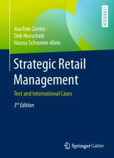 Strategic Retail Management: Text and International Cases