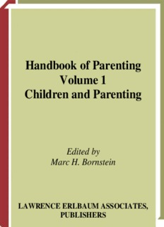 Handbook of Parenting Volume 1 Children and Parenting