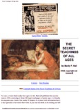 The Secret Teaching of the Ages Manly P Hall