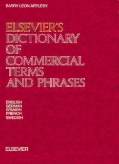 Elsevier's Dictionary of Commercial Terms and Phrases In Five Languages: English, German, Spanish, French and Swedish