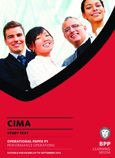 CIMA P1: Performance Operations Study Text 2013