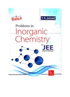 Balaji Chapter 6 to 11 Problems in Inorganic Chemistry by V K Jaiswal for IIT JEE main and Advanced