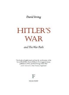 Hitler's War - David Irving's Website