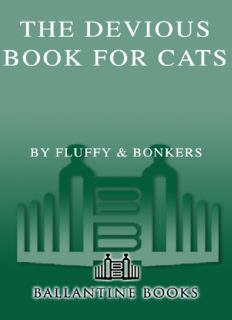 The Devious Book for Cats by Fluffy and Bonkers