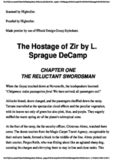 L. Sprague De Camp - The Hostage of Zir