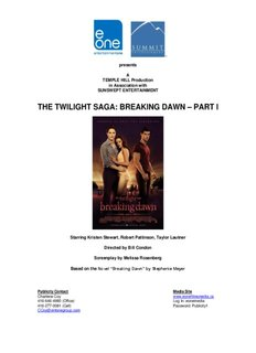 THE TWILIGHT SAGA: BREAKING DAWN PART I
