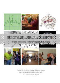 musicoteràpia aplica musicoteràpia aplicada a la geriatria da a la geriatria