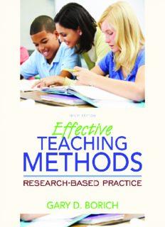 Effective Teaching Methods R e s e a r c h - B a s e d P r a c t i c e Ninth Edition