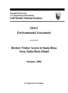 Environmental Assessment Restore Visitor Access to Santa Rosa Area, Santa Rosa Island
