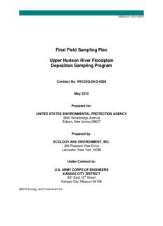 Field Sampling Plan, Upper Hudson River Floodplain Deposition Sampling Program